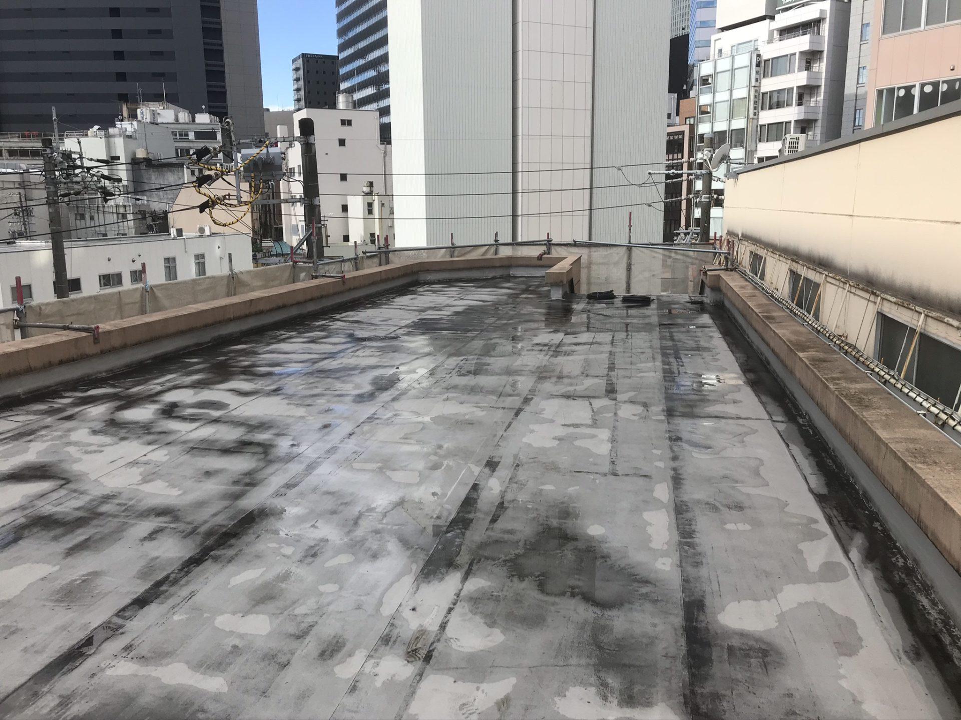 屋上防水劣化状況